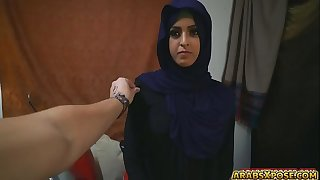 Sexy beautiful Arab babe was being filmed